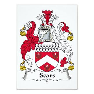 Escudo de la familia de Sears Invitacion Personalizada