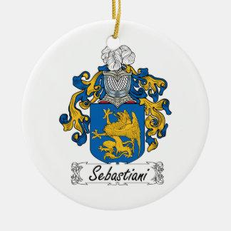 Escudo de la familia de Sebastiani Adorno Navideño Redondo De Cerámica