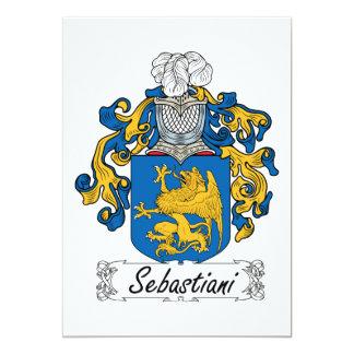 "Escudo de la familia de Sebastiani Invitación 5"" X 7"""