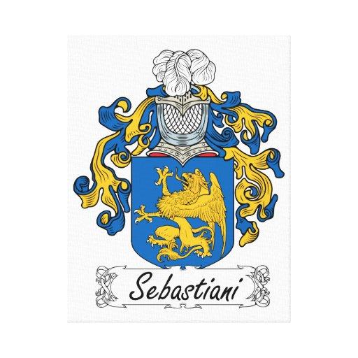 Escudo de la familia de Sebastiani Impresiones En Lona Estiradas