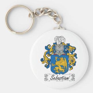 Escudo de la familia de Sebastiani Llavero Redondo Tipo Pin
