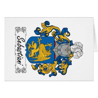 Escudo de la familia de Sebastiani Tarjeta De Felicitación