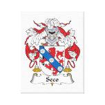 Escudo de la familia de Seco Impresión De Lienzo