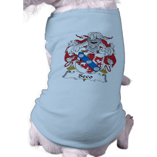 Escudo de la familia de Seco Playera Sin Mangas Para Perro