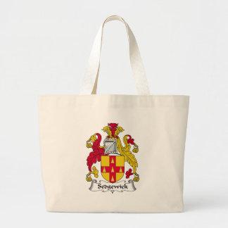 Escudo de la familia de Sedgewick Bolsas De Mano