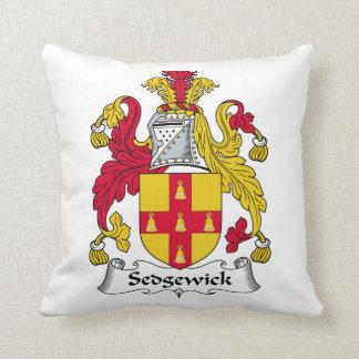 Escudo de la familia de Sedgewick Cojines