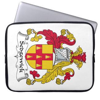 Escudo de la familia de Sedgewick Funda Computadora