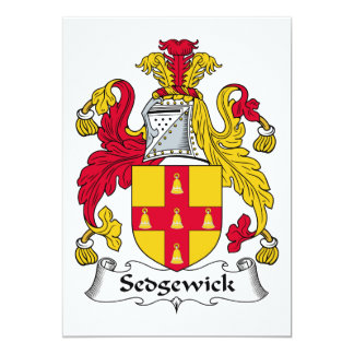 Escudo de la familia de Sedgewick Invitacion Personal