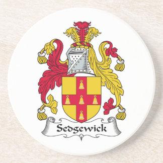 Escudo de la familia de Sedgewick Posavasos Para Bebidas