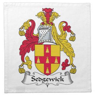 Escudo de la familia de Sedgewick Servilleta Imprimida