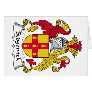 Escudo de la familia de Sedgewick Tarjetón
