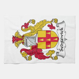 Escudo de la familia de Sedgewick Toallas De Mano