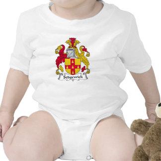 Escudo de la familia de Sedgewick Traje De Bebé