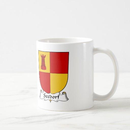 Escudo de la familia de Seedorf Tazas De Café