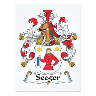 Escudo de la familia de Seeger Invitación 16,5 X 22,2 Cm