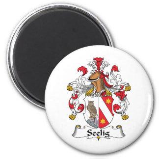 Escudo de la familia de Seelig Imán Redondo 5 Cm