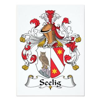"""Escudo de la familia de Seelig Invitación 6.5"""" X 8.75"""""""