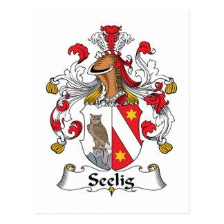 Escudo de la familia de Seelig Postal