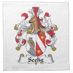 Escudo de la familia de Seelig Servilleta De Papel