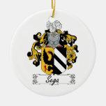 Escudo de la familia de Sega Ornamento Para Reyes Magos