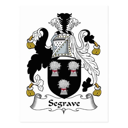 Escudo de la familia de Segrave Tarjeta Postal