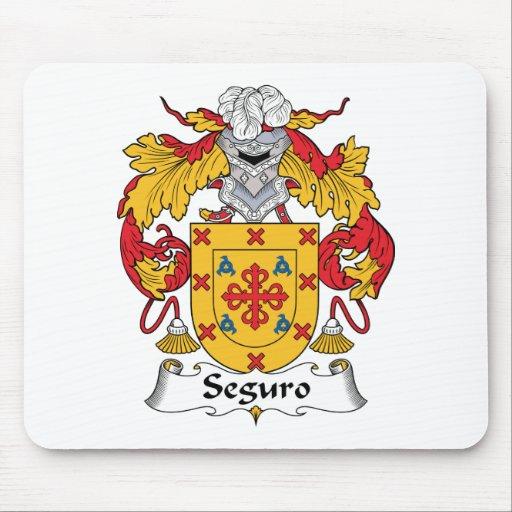 Escudo de la familia de Seguro Tapetes De Raton