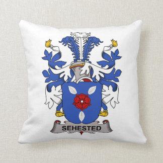Escudo de la familia de Sehested Almohadas