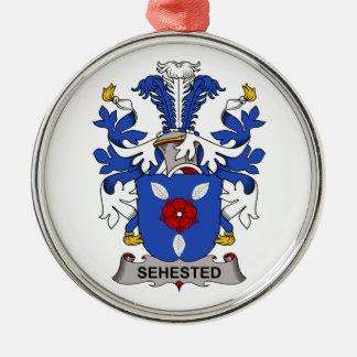 Escudo de la familia de Sehested Ornamento Para Reyes Magos