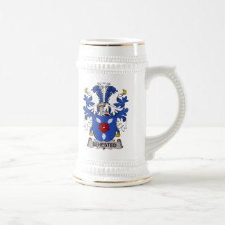 Escudo de la familia de Sehested Tazas De Café