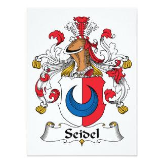 Escudo de la familia de Seidel Invitación 16,5 X 22,2 Cm