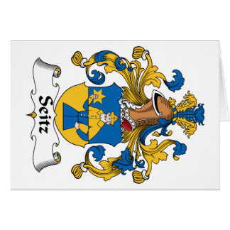 Escudo de la familia de Seitz Tarjeta De Felicitación