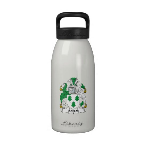 Escudo de la familia de Selleck Botella De Agua