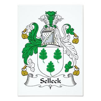 """Escudo de la familia de Selleck Invitación 5"""" X 7"""""""