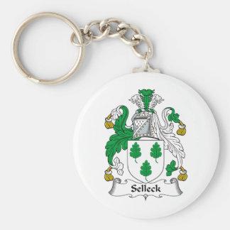Escudo de la familia de Selleck Llavero