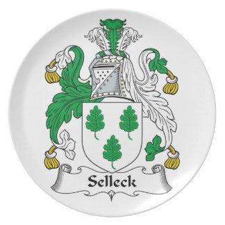 Escudo de la familia de Selleck Plato