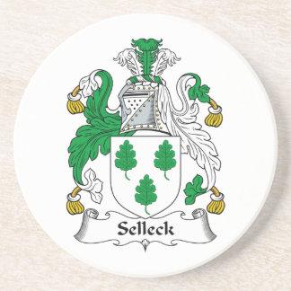Escudo de la familia de Selleck Posavasos Personalizados