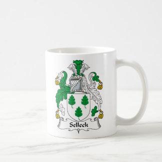 Escudo de la familia de Selleck Taza Clásica