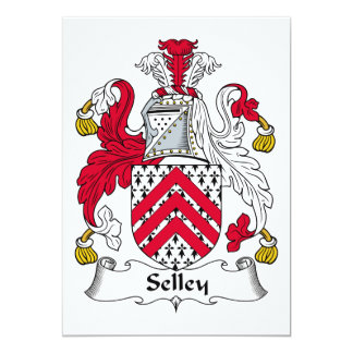 Escudo de la familia de Selley Invitación Personalizada