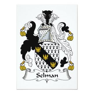 Escudo de la familia de Selman Invitación