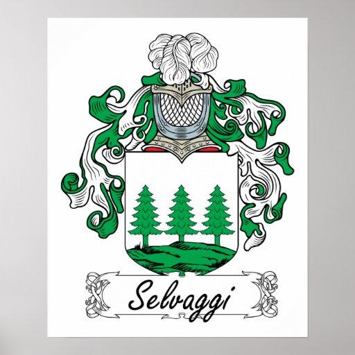 Escudo de la familia de Selvaggi Póster