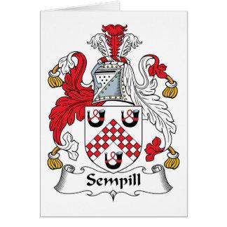 Escudo de la familia de Sempill Felicitación