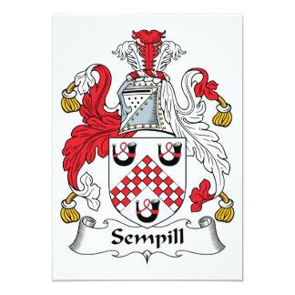 Escudo de la familia de Sempill Invitación Personalizada