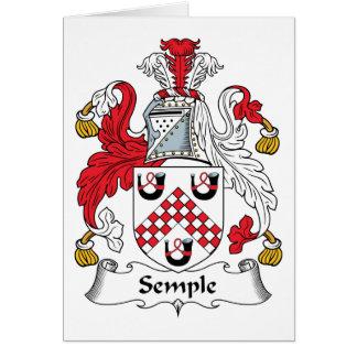 Escudo de la familia de Semple Tarjeta De Felicitación