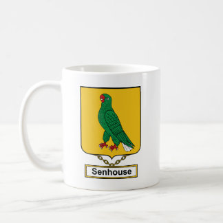 Escudo de la familia de Senhouse Taza De Café