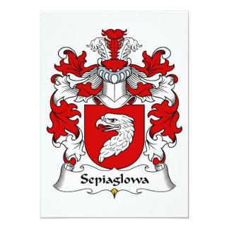 """Escudo de la familia de Sepiaglowa Invitación 5"""" X 7"""""""
