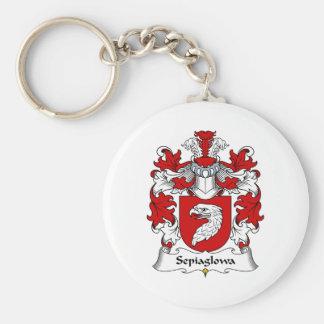 Escudo de la familia de Sepiaglowa Llavero Redondo Tipo Pin