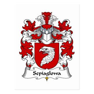 Escudo de la familia de Sepiaglowa Postal