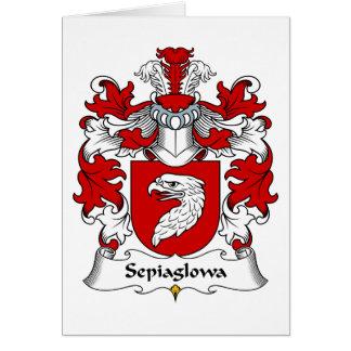 Escudo de la familia de Sepiaglowa Tarjeta De Felicitación