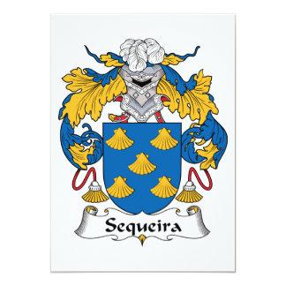 Escudo de la familia de Sequeira Invitaciones Personales