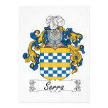 Escudo de la familia de Serra Invitaciones Personalizada